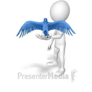 ID# 9378 - A Bird In Hand - Presentation Clipart