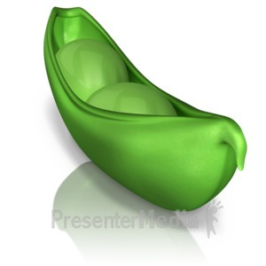 ID# 9383 - Two Peas In A Pod - Presentation Clipart