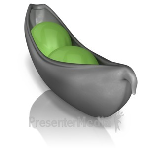 ID# 9384 - Two Peas In A Pod Stand Out - Presentation Clipart