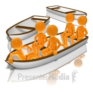 ID# 9391 - All In The Same Boat - Presentation Clipart