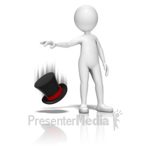 ID# 9417 - At The Drop Of A Hat - Presentation Clipart