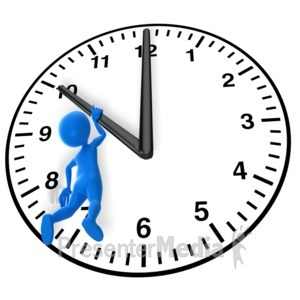ID# 9418 - Hanging On To Time - Presentation Clipart