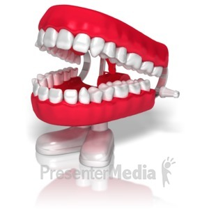 ID# 9437 - Chatter Teeth - Presentation Clipart