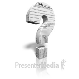 ID# 9454 - Tax Question Mark - Presentation Clipart