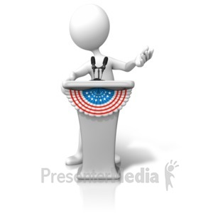 ID# 9456 - Political Podium Candidate - Presentation Clipart