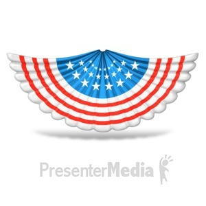 ID# 9459 - Patriotic Accordion Banner - Presentation Clipart