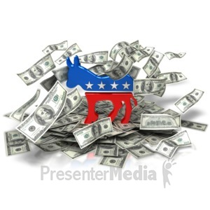 ID# 9474 - Democratic Party Money - Presentation Clipart
