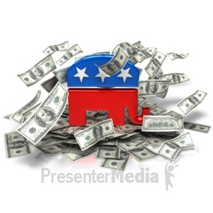 ID# 9476 - Republican Party Money - Presentation Clipart