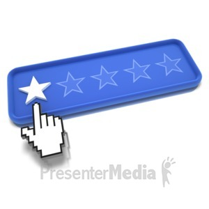 ID# 9486 - One Star Pointing - Presentation Clipart