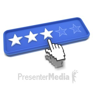 ID# 9488 - Three Star Pointing - Presentation Clipart