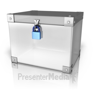 ID# 9494 - Locked Up Box - Presentation Clipart