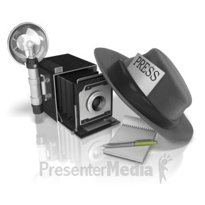 ID# 9515 - Press Journalist Gear - Presentation Clipart