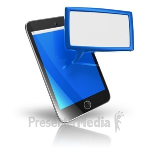ID# 9532 - Smart Phone Texting Box - Presentation Clipart