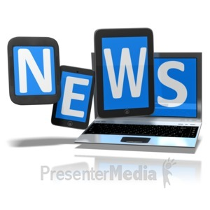 ID# 9552 - News On Digital Devices - Presentation Clipart