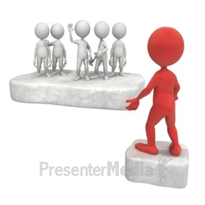 ID# 9554 - Separated From Group - Presentation Clipart