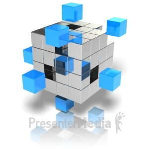 ID# 9557 - Cubes Stand Out - Presentation Clipart