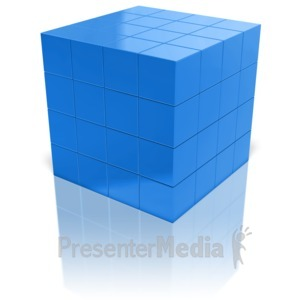ID# 9558 - Array Of Cubes - Presentation Clipart