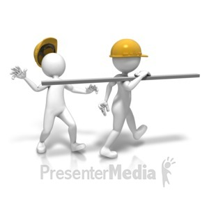 ID# 9564 - Construction Site Accident - Presentation Clipart