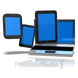 ID# 9577 - Personal Digital Devices - Presentation Clipart