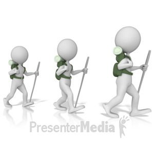 ID# 9598 - Hikers - Presentation Clipart