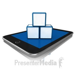 ID# 9612 - Learning How To Use A Tablet - Presentation Clipart