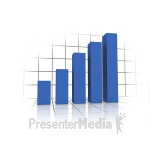 ID# 9636 - Graph On Grid - Presentation Clipart