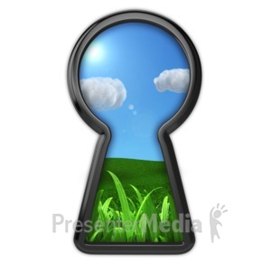 ID# 9651 - Keyhole To Serenity - Presentation Clipart
