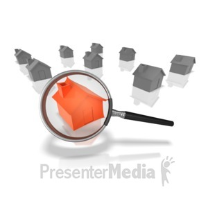 ID# 9709 - Searching For The Right House - Presentation Clipart