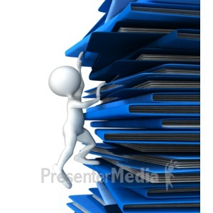 ID# 9727 - Climbing Up Folders - Presentation Clipart