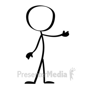 ID# 9767 - Line Figure Presents - Presentation Clipart