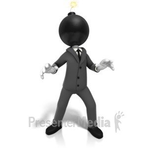 ID# 9772 - Business Time Bomb - Presentation Clipart