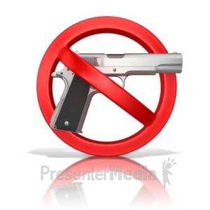 ID# 9781 - Guns Prohibited - Presentation Clipart
