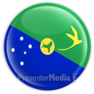 ID# 9855 - Christmas Island Badge - Presentation Clipart