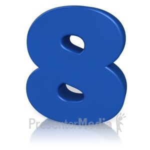 ID# 9880 - Number Eight - Presentation Clipart
