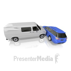 ID# 9889 - Car Crash - Presentation Clipart