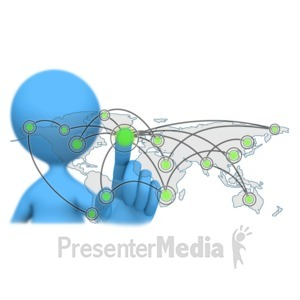 ID# 9905 - Global Touch Connection - Presentation Clipart