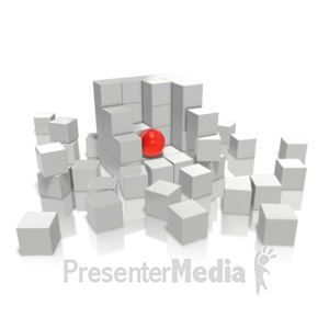 ID# 9908 - Foreigner In a Cube - Presentation Clipart