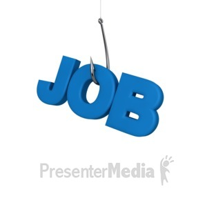 ID# 9924 - Trying To Hook A Job - Presentation Clipart