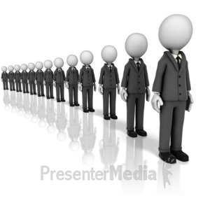 ID# 9949 - Long Line - Presentation Clipart