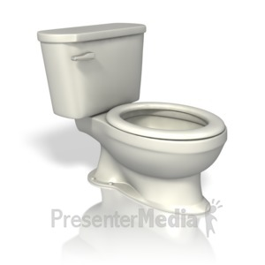 ID# 9970 - Toilet - Presentation Clipart