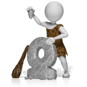 ID# 10040 - Caveman Create Wheel - Presentation Clipart