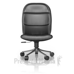 ID# 10054 - Single Office Chair - Presentation Clipart