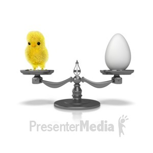 ID# 10064 - Chicken or the Egg - Presentation Clipart