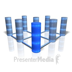 ID# 10068 - Database Array - Presentation Clipart