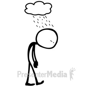 ID# 10078 - Line Figure Depressed - Presentation Clipart