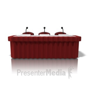 ID# 10085 - Panel Discussion Table - Presentation Clipart