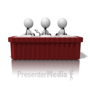 ID# 10090 - Panel Discussion - Presentation Clipart