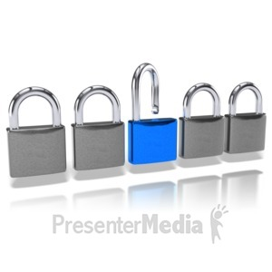ID# 10102 - Padlock Standout - Presentation Clipart