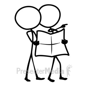 ID# 10110 - Line Figures Planning - Presentation Clipart