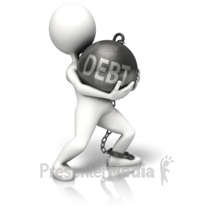ID# 10149 - Walking Debt Chain Ball - Presentation Clipart